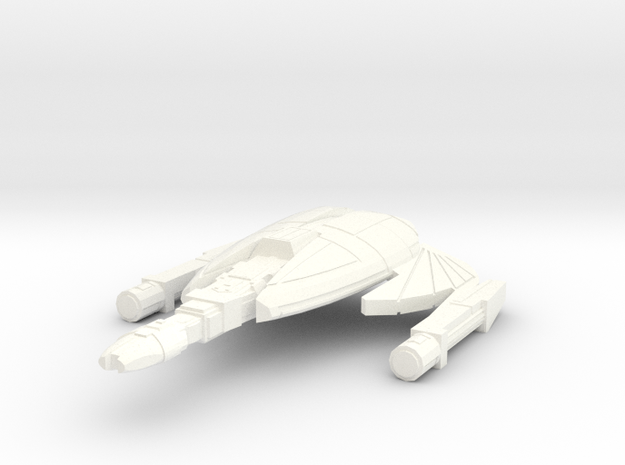 3125 fire swarm destroyer in White Strong & Flexible Polished