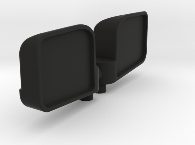 1:8 scale wing mirror for RC cars in Black Natural Versatile Plastic