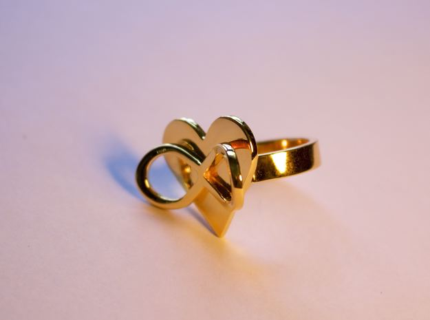 AMOUR in 14k gold plated in 14k Gold Plated: 7 / 54