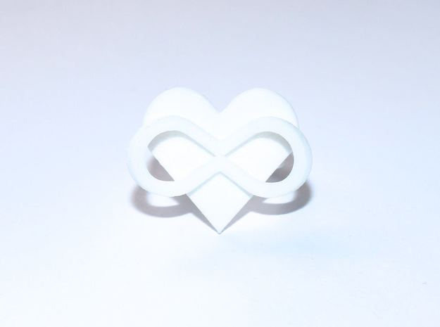 AMOUR in white polished plastic  in White Processed Versatile Plastic: 7 / 54