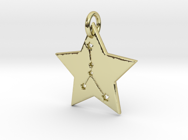 Cancer Constellation Pendant in 18k Gold Plated Brass