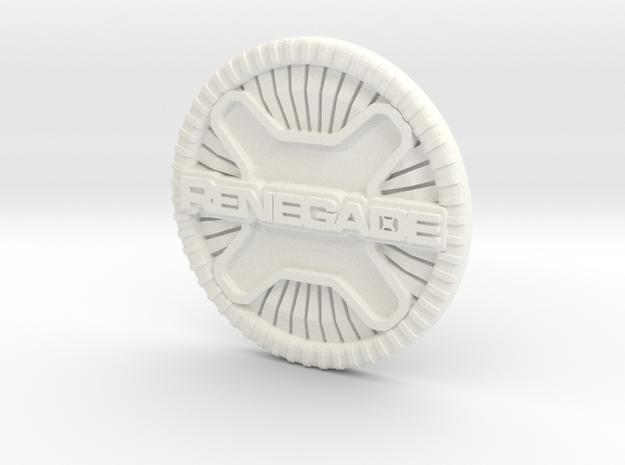 renegade badge in White Processed Versatile Plastic