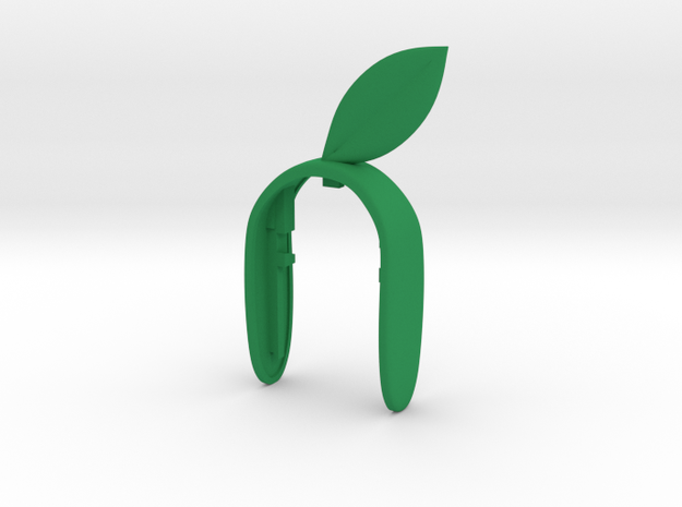 LEAF  KEY FOB in Green Processed Versatile Plastic