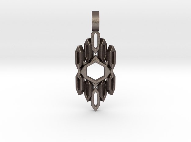 Auric Shield (Curved) in Polished Bronzed Silver Steel