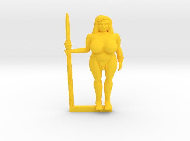 Gia of the Jungle in Yellow Processed Versatile Plastic