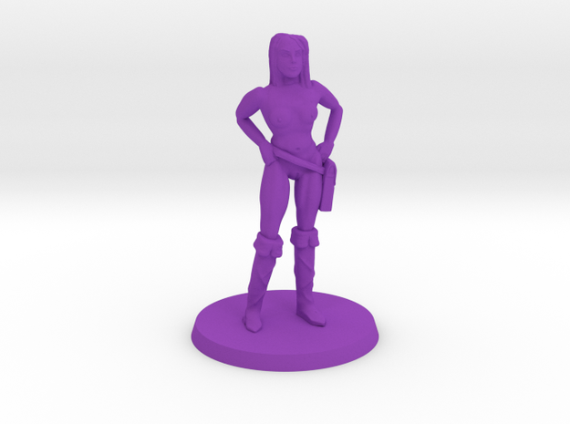 Pirate Lass NSFW in Purple Processed Versatile Plastic