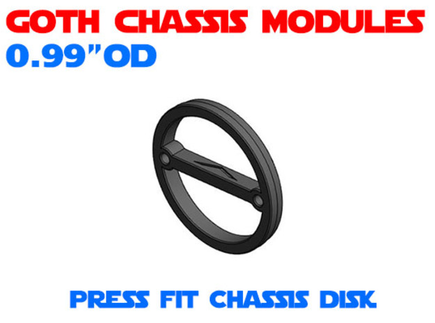 GCM099 - Press fit chassis disk in White Natural Versatile Plastic