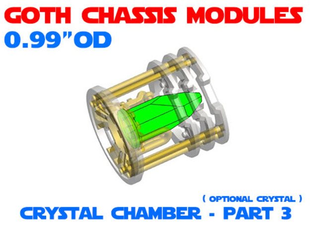GCM099 - Crystal Chamber Part 3 - Crystal in Smooth Fine Detail Plastic