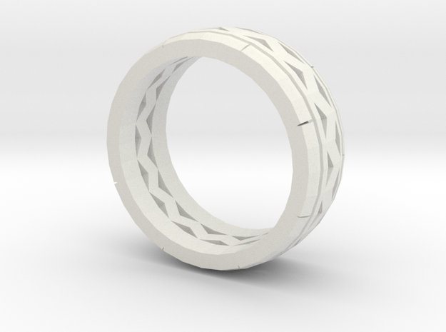 Test Ring in White Natural Versatile Plastic