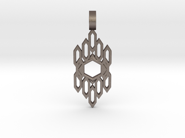 Auric Shield (Flat) in Polished Bronzed Silver Steel