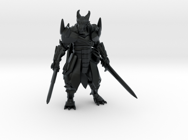 Dragonborn w/ Longswords in Black Hi-Def Acrylate