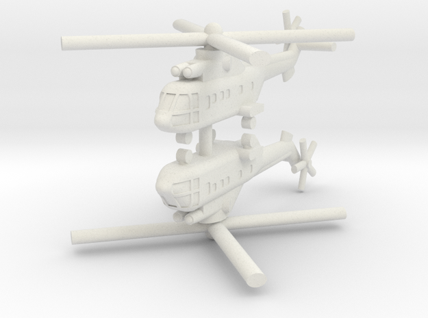 1/250 AS-332 Super Puma (x2) in White Natural Versatile Plastic