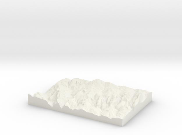 Merthyr Tydfil W300 S198 E320 N212 in White Natural Versatile Plastic