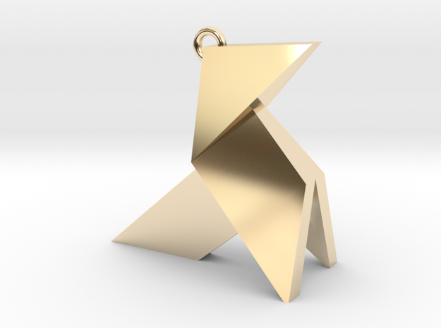 Origami earring in 14k Gold Plated Brass