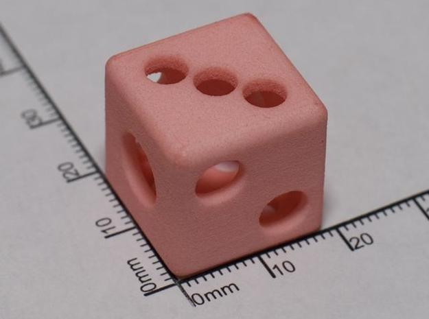 Hollow Die 3d printed WSF died red at home