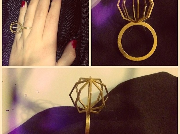 Ngon Ring size 9 in Natural Brass