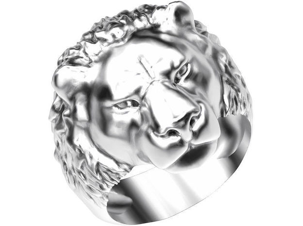 Lion Ring New in Natural Brass: 2 / 41.5