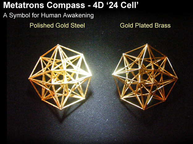 4D Vector Equilibrium Metatron's Compass 50mm -  3d printed