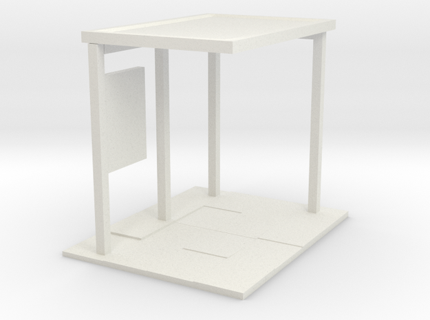 28mm bus shelter base in White Natural Versatile Plastic