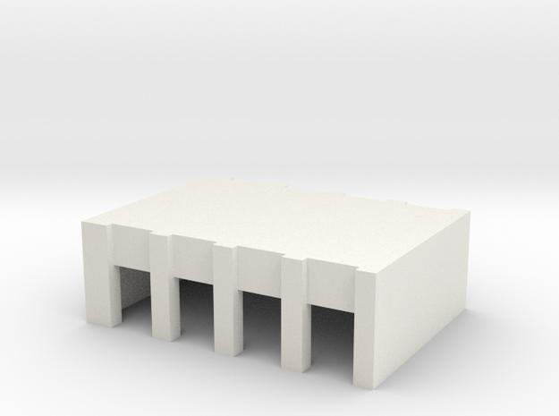 Airport Vehicle Service Building - rear doors in White Natural Versatile Plastic