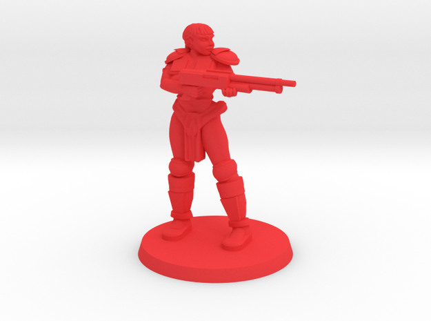 Raider Penny pose 4 in Red Processed Versatile Plastic