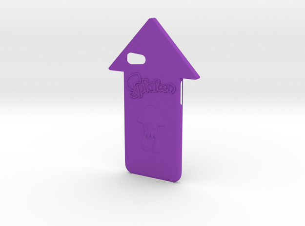 Iphone 7 Splatoon Squid Case in Purple Processed Versatile Plastic