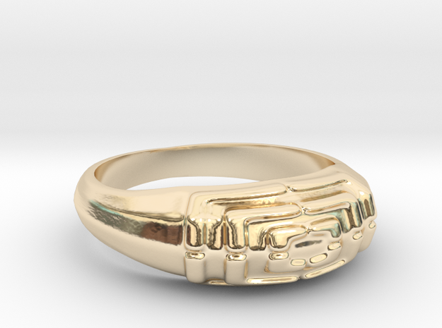 Ring Sawtomy - 16mm in 14K Gold