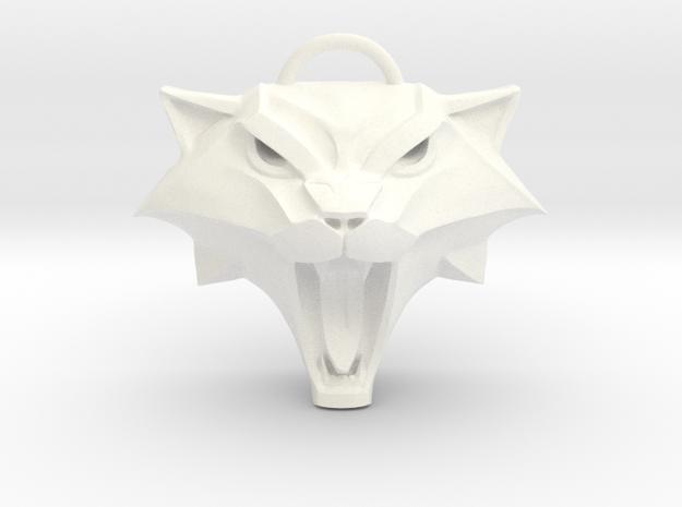 The Witcher: Cat school medallion (plastic) in White Processed Versatile Plastic