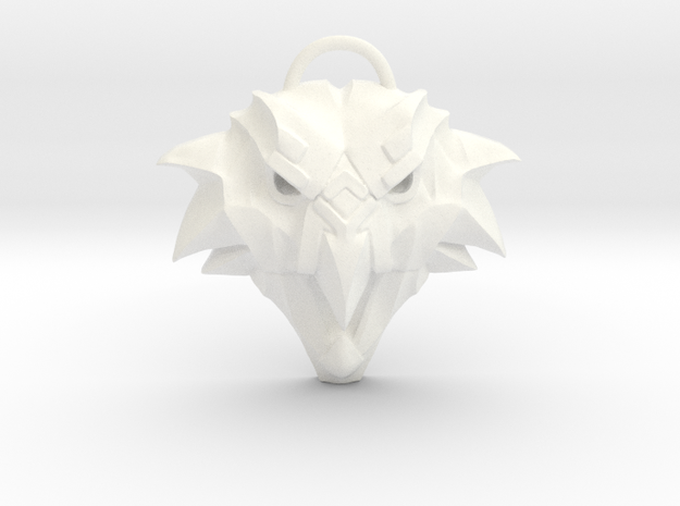 The Witcher: Griffin school medallion in White Strong & Flexible Polished