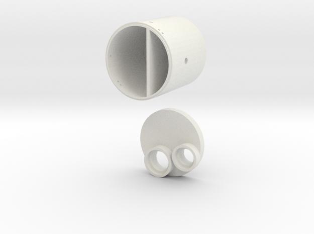L XX Betonpumpenschacht  in White Natural Versatile Plastic