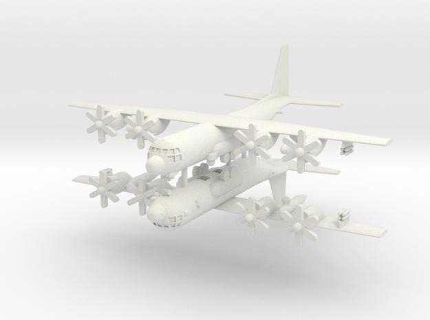 1/500 KC-130J Harvest Hawk (x2) in White Natural Versatile Plastic