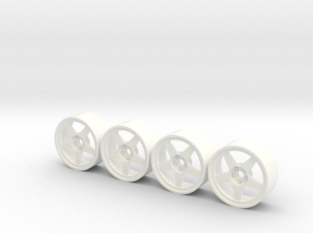 4llantas como audi quattro 19x9 1:24 in White Processed Versatile Plastic