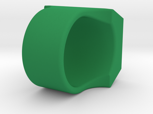 Green Lantern Ring V2 in Green Strong & Flexible Polished