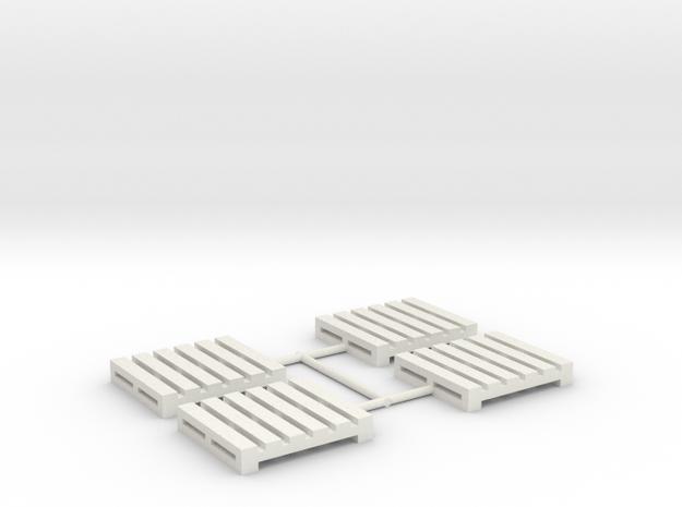 Pallet-2 (4 Ea.) (HO) in White Natural Versatile Plastic: 1:87 - HO