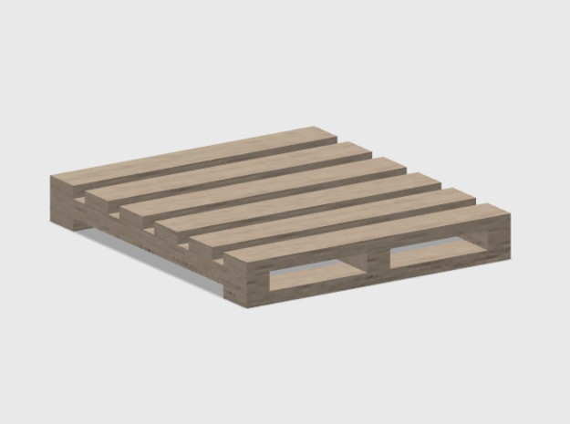Pallet-1 (4 Ea.) in White Natural Versatile Plastic: 1:87 - HO