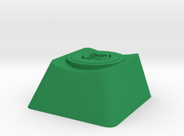 Orisa Supercharger Cherry MX Key in Green Processed Versatile Plastic