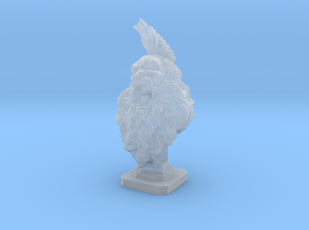 Bearded Man Bust in Frosted Ultra Detail: Medium