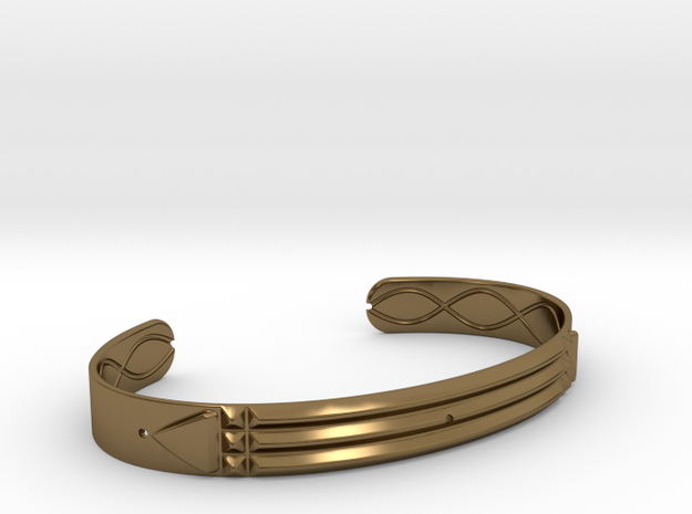 Atlantis Cuff Bracelet in Polished Bronze: Medium