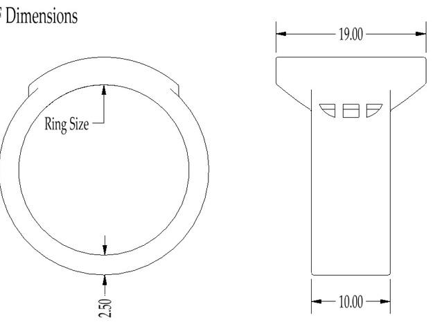 Wonder Woman Inspired Ring 3d printed