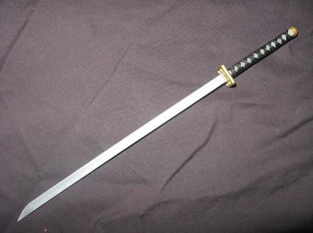 Katana4 3d printed A painted model of the actual sword