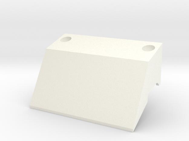 Tbb008-01 Tyco Bandit Roll Bar Scoop in White Processed Versatile Plastic