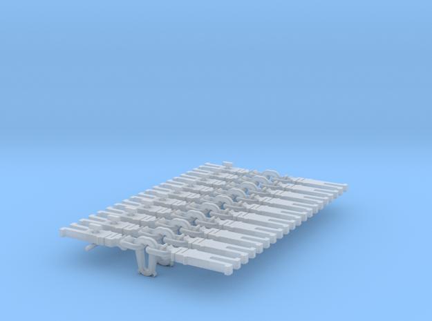 NEM OO Type 2 Couplings - Strait Instanter x10 in Smooth Fine Detail Plastic