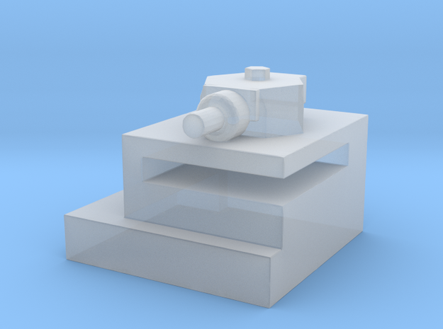 Utah Beach Block House with Turret  in Smooth Fine Detail Plastic