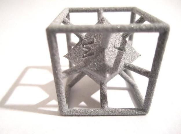 4-Letter Words D6 Cage Dice in Polished Metallic Plastic