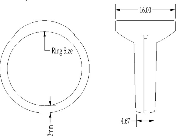 Guy Gardner Style GL Ring (Sz 12 shown) 3d printed
