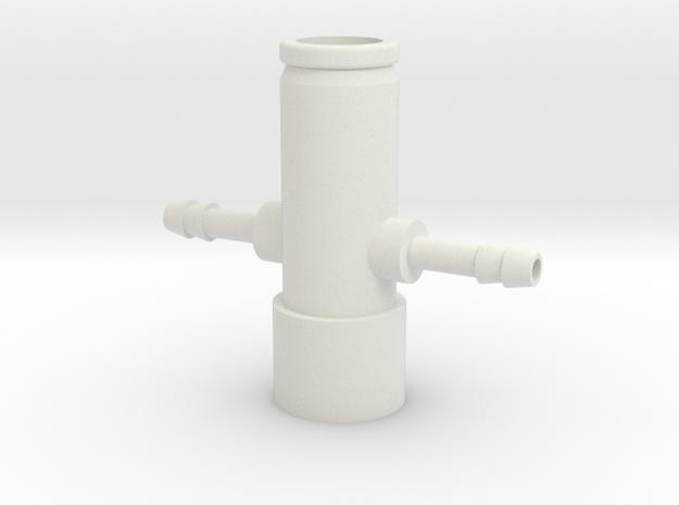 CPAP Dual Gas Bleeder - Tee in White Strong & Flexible