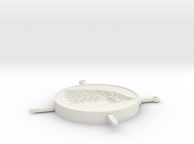 House Stark Sword Coaster in White Natural Versatile Plastic