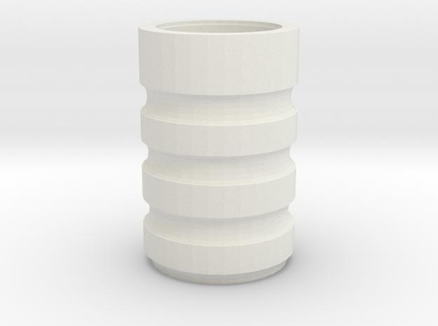Billy Club Grip Bottom in White Natural Versatile Plastic
