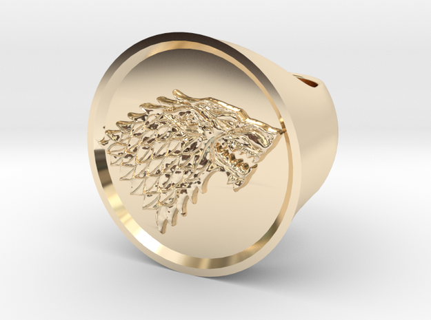 Ring House of Stark - Game Of Thrones in 14K Gold