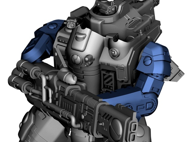 Stormwave - Arms for Two Handed Weapon in Smooth Fine Detail Plastic: d3